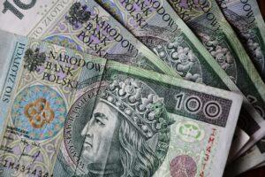 alimenty w polskich złotych - banknoty